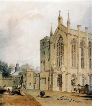 South-West Front of Cassiobury House in 1806 (JMW Turner) - Watford Museum